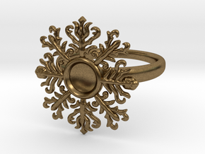 snowflake ring in Natural Bronze
