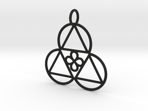 Reality Shift Pendant in Rhodium Plated Brass