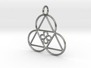 Reality Shift Pendant in Polished Silver