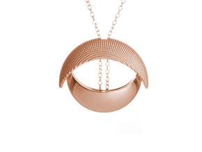 EYE pendant in 14k Rose Gold Plated Brass