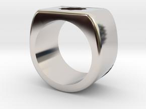 Bold Star Ring  in Rhodium Plated Brass