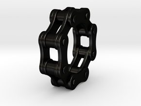 Violetta L. - Bicycle Chain Ring in Matte Black Steel: 6 / 51.5