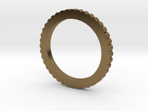 Ingranaggi Ring M/L 18mm in Polished Bronze