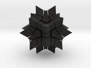 Megaminx Inward V2 in Black Strong & Flexible: Medium