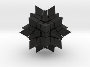 Megaminx Inward V2 in Black Strong & Flexible: Medium