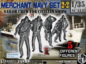 1-35 Merchant Navy Crew Set 2-2 in Smooth Fine Detail Plastic