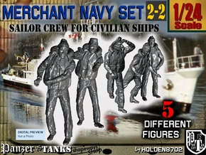 1-24 Merchant Navy Crew Set 2-2 in White Natural Versatile Plastic