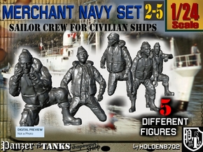 1-24 Merchant Navy Crew Set 2-5 in White Natural Versatile Plastic
