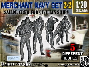 1-20 Merchant Navy Crew Set 2-2 in White Natural Versatile Plastic