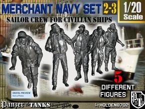 1-20 Merchant Navy Crew Set 2-3 in White Natural Versatile Plastic
