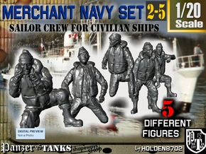 1-20 Merchant Navy Crew Set 2-5 in White Natural Versatile Plastic