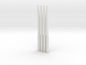 4 Scott's Spikes in White Strong & Flexible