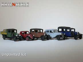 SET French and Italian 1930s cars (N 1:160) in Smooth Fine Detail Plastic