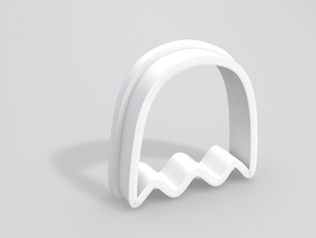 Pacman Ghost Cookie Cutter in White Processed Versatile Plastic