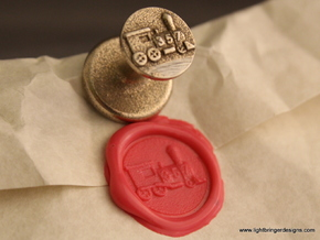 Locomotive Wax Seal in Polished Bronzed Silver Steel