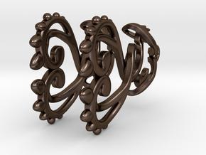 Curling Thorns Earrings in Polished Bronze Steel