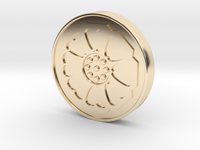 Avatar: the Last Airbender - White Lotus Tile in 14K Yellow Gold