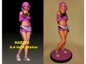 """Dazzle"" (80's Inspired Pop Star) 6.4 inch Statue in Full Color Sandstone"