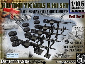 1/10.5 Vickers K GO SET in Smooth Fine Detail Plastic