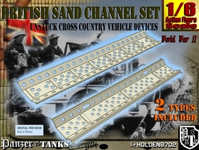 1-6 British Sand Channel Set in White Natural Versatile Plastic