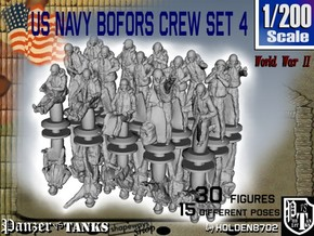 1-200 US Navy Bofors Crew Set 4 in Smoothest Fine Detail Plastic