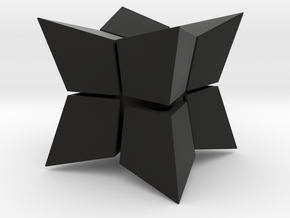 Cube inward 2*2*2 in Black Natural Versatile Plastic: Medium