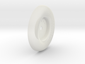 C-LRV Wheel  Inner Mesh & Hub-FR&BL in White Natural Versatile Plastic