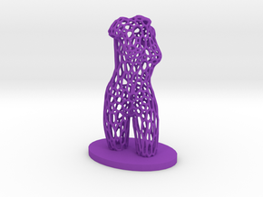 Dancer Torso 03 Voronoi Style in Purple Strong & Flexible Polished