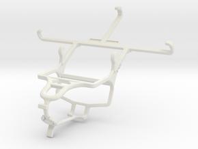 Controller mount for PS4 & Panasonic Eluga U2 in White Natural Versatile Plastic