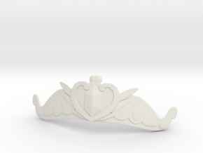 Serenity Tiara in White Natural Versatile Plastic