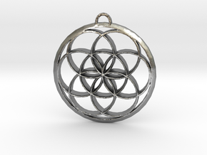 Seed Of Life in Natural Silver: Large