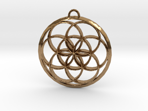 Seed Of Life in Natural Brass: Large