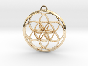 Seed Of Life in 14k Gold Plated Brass: Large
