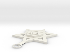 Star Of David Pendant in White Natural Versatile Plastic