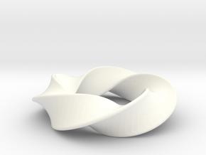 Python 3-5 Torus Knot Large in White Processed Versatile Plastic