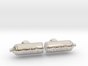 Spray Paint Can Cufflinks - Custom in Rhodium Plated Brass