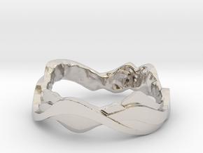 Sharp Edges Ring in Rhodium Plated Brass: 5 / 49