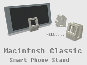 Apple Macintosh Classic Smart Phone Stand in White Natural Versatile Plastic