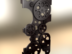 "Iphone 4 ""Cogwheels"" in Black Natural Versatile Plastic"
