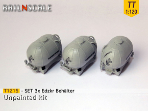SET 3x Edzkr 571 Behälter (TT 1:120) in Smooth Fine Detail Plastic