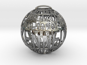 Kennedy Quotaball in Polished Silver