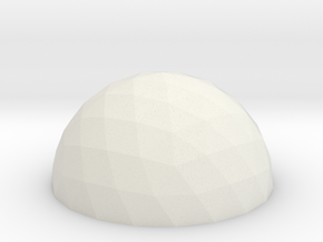 Geodesic Dome V4 10cm in White Strong & Flexible