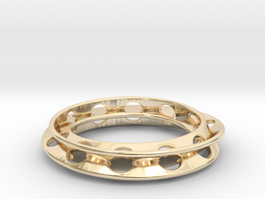 Moebius Rounded 12,5 in 14k Gold Plated Brass