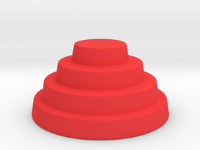 Devo Hat  38mm diameter miniature / NOT LIFE SIZE! in Red Strong & Flexible Polished