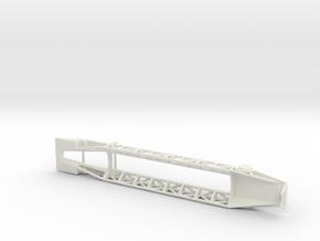 1/200 Scale Jupiter Missile Trailer in White Natural Versatile Plastic