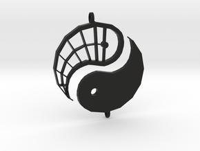 Yin-Yang Friendship Charms in Black Natural Versatile Plastic
