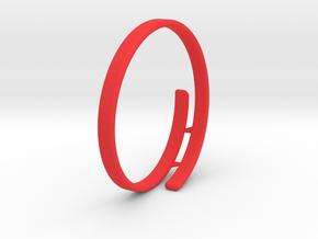 Bag Bracelet in Red Processed Versatile Plastic: Medium