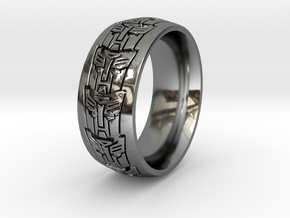ROBOT RING 2 all sizes in Fine Detail Polished Silver: 10.5 / 62.75