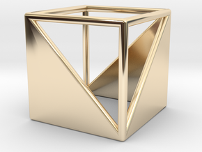 CUBE Nº 2 RING in 14k Gold Plated Brass: 7 / 54