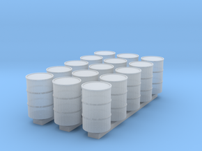 'N Scale' - (15) 55 Gallon Drums in Smooth Fine Detail Plastic